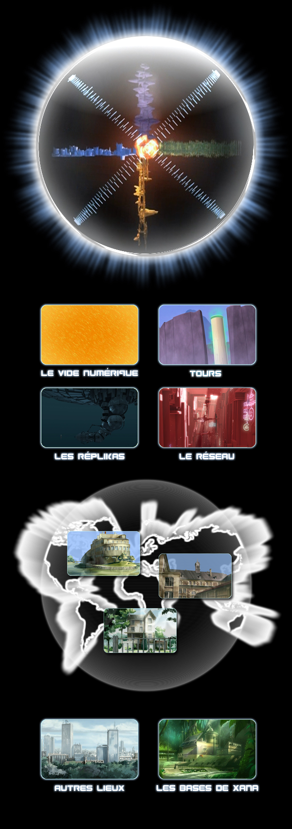 CodeLyoko.Fr - Lieux
